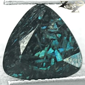3.62 CT.Natural Trillion 9.5mm Titanium Blue Schiller Streaks Mauritania Jenakite