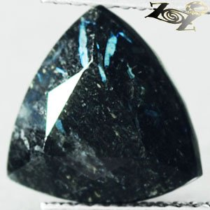 4.39 CT.Natural Trillion 10 mm. Titanium Blue Schiller Streaks Whole Jenakite