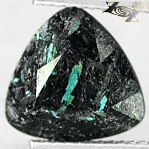 4.19 CT.Natural Trillion 10 mm. Titanium Blue Schiller Streaks Whole Jenakite