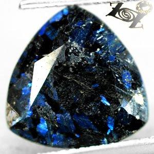 4.98 Ct.Natural Trillion 12 mm.Titanium Blue Scheen Streaks Full Table Jenakite