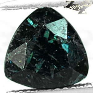 3.02 CT.Natural Trillion 9 mm. Titanium Blue Green Schiller Streaks Jenakite Gem