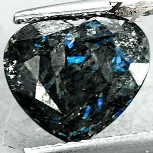 2.36 Ct.Rare Grade Natural Heart 9*10 mm. Titanium Blue Scheen Streaks Jenakite