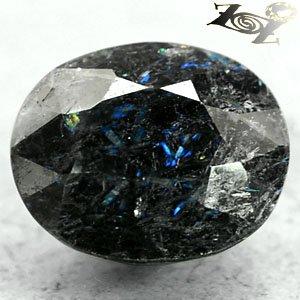 6.42 Ct.Natural Oval 10*12mm Titinium Blue Schiller Streaks Whole Piece Jenakite