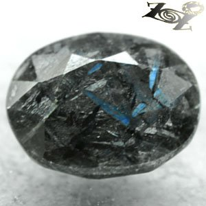 3.53 CT.Natural Oval 8*10.5 mm. Green Blue Scheen Streaks Whole Black Jenakite