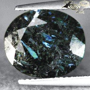 7.4 CT.Natural Oval 11*13 mm. Titanium Blue Schiller Streaks Whole Jenakite Gems