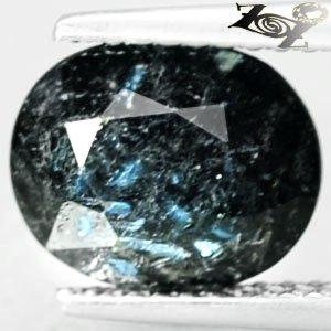 2.96 CT.Natural Oval 8*10 mm. Titanium Blue Sciller Streaks Nuummite Jenakite
