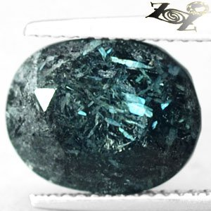 5.73 CT.Natural Oval 9*11.5 mm. Titanium Blue Schiller Streaks Whole Jenakite