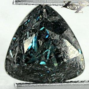 3.53 CT.Natural Trillion 9.5 mm. Titanium Blue Green Schiller Streaks Jenakite