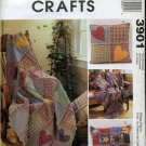 MCCALLS 3901 CRAFT RAG THROW & PILLOWS PATTERN