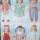 "Butterick 5295 Craft  Pattern 18"" Doll Wardrobe"