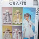 MCCALLS 3061 CRAFT PATTERN BLANKET BUDDIES
