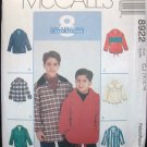 MCCALLS  8922 Children's & Boys Pullover Tops