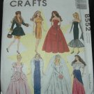 "McCalls 8552 11 1/2""  Doll Dress Pattern"