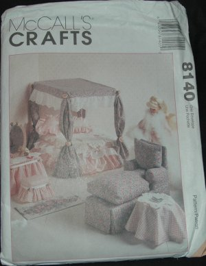 "McCalls 8140 11 1/2""  Doll Furniture Pattern"