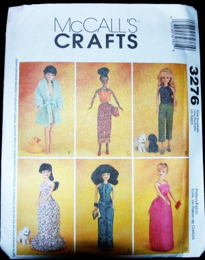 "McCalls 3276 11 1/2""  Doll Dress Pattern"