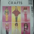 "McCalls 3041 11 1/2""  Doll Dress Pattern"