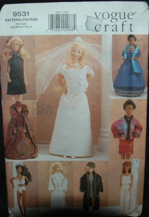 "Vogue 9531 11 1/2"" Doll Dress Patterns"