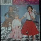 SIMPLICITY 5401 POODLE SKIRT COSTUME N  SZ 7-14