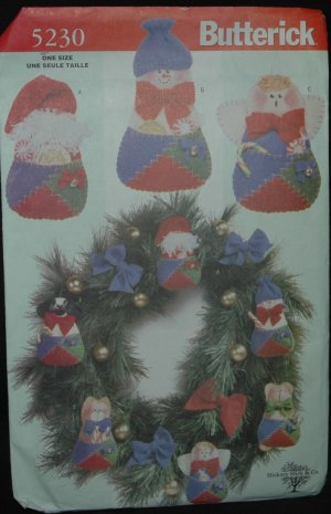 Butterick 5230 Christmas Ornaments Craft  Pattern