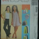 MCCALLS 2569 Girls Dress, Top, Skirt & Pull on Pants