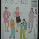 MCCALLS 3201 Girls Shirt-Jacket, Top, Pants & Skirt