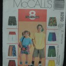MCCALLS 9290 Boys' and Girls Shorts & Backpack