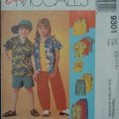 MCCALLS 9301 Children's Shirt, Tank Top, Pull-On Pants or Shorts & Hat