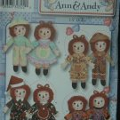 Simplicity 3945 Craft  Raggedy Ann & Andy Doll &  Clothes