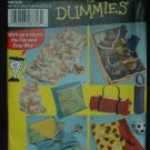 Simplicity 4745 PATTERN  FOR DUMMIES-FLEECE BLANKETS & MORE