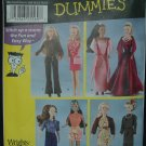 "Simplicity 7073 11 1/2""  Doll Dress Patterns"
