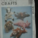 MCCALLS 9113 CRAFT BEAN BAG ANIMALS PATTERN