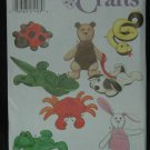 SIMPLICITY 8091 CRAFT BEAN BAG ANIMALS & LEASH