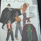 MCCALLS 4943 COSTUME - ADULT BUCCANEER, GENIE, HAREM GIRL, COUNT DRACULA OR JOKER  SZ EX-L 44-46