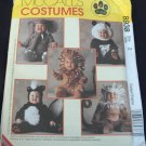 MCCALLS  8938 TODDLERS'  COSTUMES - SKUNK, LION, MONKEY, ELEPHANT & PANDA