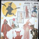 SIMPLICITY 7915 CHILDS' COSTUME - WITCH, RABBIT, DEVIL, RED RIDING HOOD, CAT,  CLOWN,