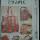 MCCALLS M4728 CRAFT PATTERN- KNITTING AND SEWING ORGANIZERS