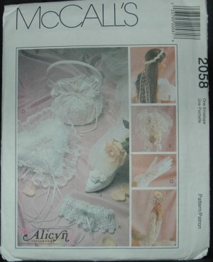 MCCALLS 2058 CRAFT PATTERN - WEDDING NECESSITIES