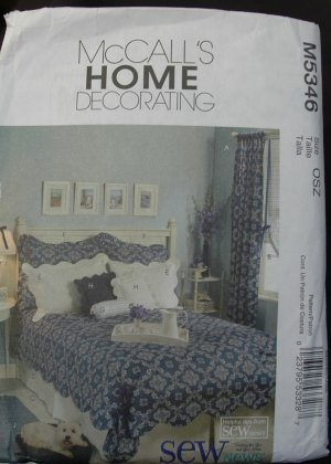 MCCALLS M5346 CRAFT PATTERN- PUFF QUILT AND ACCESSORIES