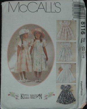 MCCALLS 8116  Children's and  Girls' Dresses