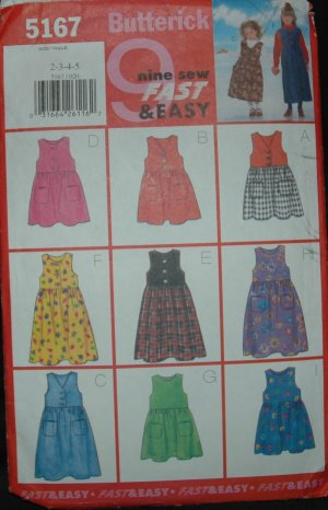 BUTTERICK 5167 Childrens's/Girls' Jumper