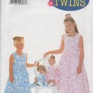 "BUTTERICK 6037 CHILDREN'S / GIRL'S  DRESS & 18"" DOLL JUMPER"