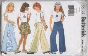 Butterick 5964 Girls'  Skirt, Pants & Top,