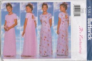 BUTTERICK 5384 GIRLS' DRESS