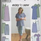 SIMPLICITY 9188  MATERNITY JUMPER OR TUNIC, PANTS OR SHORTS & KNIT DRESS OR TOP SZ 8-14
