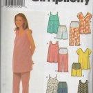 SIMPLICITY 9749  MATERNITY TOPS AND CAPRI PANTS OR SHORTS