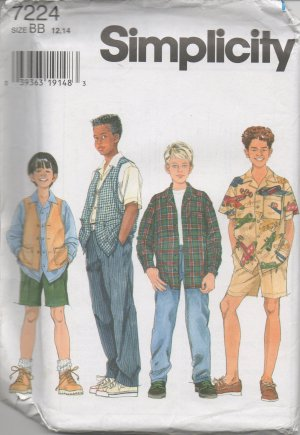 SIMPLICITY 7224 Boys' Shirt, Vest, Pants and Shorts
