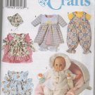 Simplicity 8528 WARDROBE FOR BABY DOLLS IN THREE SIZES