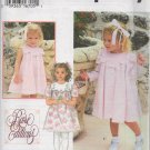 SIMPLICITY 9465 TODDLERS' DRESS AND COAT SIZE 6MOS , 1, 2