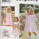 SIMPLICITY 9465 TODDLERS' DRESS AND COAT SIZE 2, 3, 4