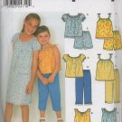 SIMPLICITY 9610 CHILDS AND GIRLS' TOPS, DRESS AND PANTS OR SHORTS